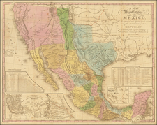 A Map of the United States of Mexico, As organized and defined by the several Acts of the Congress of that Republic, Constructed from a great variety of Printed and Manuscript Documents by H.S. Tanner . . . Fifth Edition. 1847 By Henry Schenk Tanner