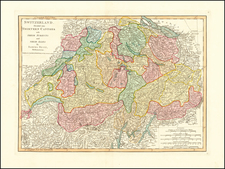 Switzerland Map By Laurie & Whittle / Samuel Dunn