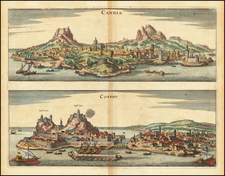 Greece Map By Matthaus Merian