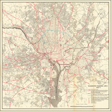 Washington, D.C. and World War II Map By Office of Civil and Defense Mobilization