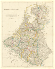 Netherlands and Belgium Map By John Arrowsmith