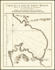 South Africa Map By Jacques Nicolas Bellin
