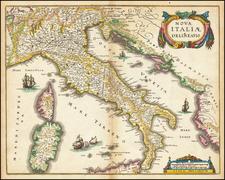 Italy Map By Matthaus Merian