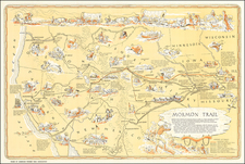 Midwest, Plains, Southwest, Rocky Mountains and Pictorial Maps Map By J. Rulon Hales
