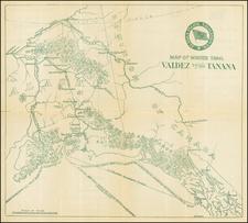 Alaska Map By A. Burr