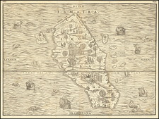 Indonesia and Sri Lanka Map By Giovanni Battista Ramusio