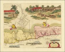 Praefecturae De Paraiba, et Rio Grande By Gaspar Barleus / Johannes Blaeu