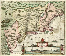 New England, Mid-Atlantic and Canada Map By Nicolaes Visscher I