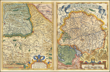Switzerland and Germany Map By Abraham Ortelius