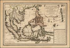 Les Isles Philippines et celles Des Larrons ou de Marianes Les Isles Moluquest et de La Sonde, avec, La Presqu'isle De L'Inde De La Gange ou Orientale . . . 1702 By Nicolas de Fer