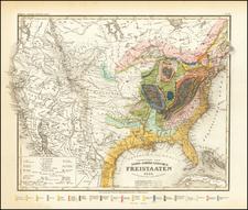 Geognostische Karte Der Nord-Americanischen Freistaaten 1852 . . . By Joseph Meyer