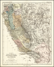 Nevada and California Map By Augustus Herman Petermann
