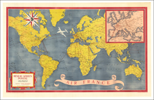 World and Pictorial Maps Map By Atelier Perceval