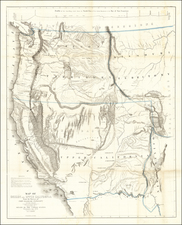 Southwest, Colorado, Utah, Nevada, Rocky Mountains, Oregon, Washington and California Map By John Charles Fremont / Charles Preuss