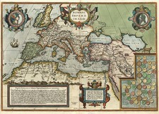 Europe, Europe, Mediterranean, Balearic Islands, Asia and Turkey & Asia Minor Map By Abraham Ortelius