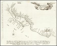 Mexico and Baja California Map By Domingo del Castillo