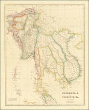 Southeast Asia, Malaysia and Thailand, Cambodia, Vietnam Map By John Arrowsmith
