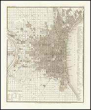 Pennsylvania and Philadelphia Map By Joseph Meyer