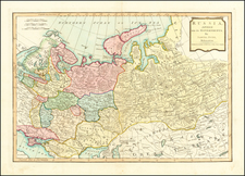 Russia, Ukraine, Central Asia & Caucasus and Russia in Asia Map By Samuel Dunn