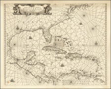 Florida, Southeast, Caribbean and South America Map By Johannes van Loon