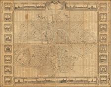 Paris Map By J. Bonnisel