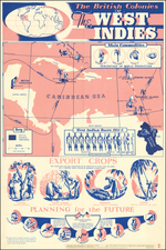 Caribbean and Pictorial Maps Map By G. J. Cons