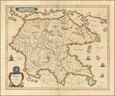 Greece Map By Willem Janszoon Blaeu