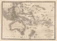 Asia, Southeast Asia, Australia & Oceania, Australia, Oceania and Other Pacific Islands Map By Alexandre Emile Lapie