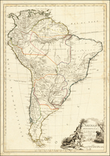 South America Map By Jacques Esnauts  &  Michel Rapilly