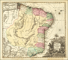 Brazil Map By Matthaus Seutter