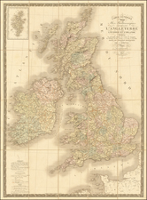 British Isles Map By J. Andriveau-Goujon