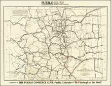 Colorado and Colorado Map By The Clason Map Company