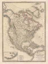 North America Map By Alexandre Emile Lapie