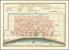 Plan De La Nouvelle Orleans Sur les Manuscrits du Depot des Cartes De la Marine . . . By Jacques Nicolas Bellin