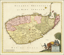 Sri Lanka Map By Nicolaes Visscher I