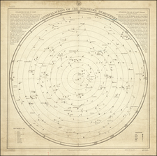 Celestial Maps Map By U.S. Hydrographical Office