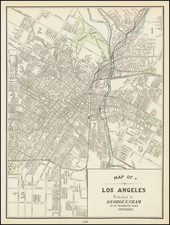 Map of Los Angeles By George F. Cram