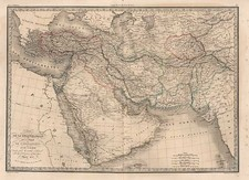 Europe, Balearic Islands, Asia, Central Asia & Caucasus, Middle East and Turkey & Asia Minor Map By Alexandre Emile Lapie