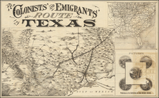 Texas Map By Woodward, Tiernan & Hale