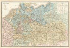 Europe, Germany, Austria, Poland, Hungary, Czech Republic & Slovakia and Baltic Countries Map By J. Andriveau-Goujon
