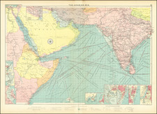 India, Central Asia & Caucasus, Middle East and Arabian Peninsula Map By George Philip & Son