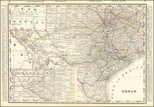 Texas Map By George F. Cram