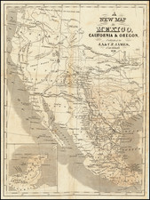 A New Map of Mexico, California, and Oregon . . .  By J.A. James & Co.