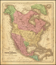 North America Map By D.F. Robinson