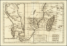 South Africa, East Africa and African Islands, including Madagascar Map By Rigobert Bonne