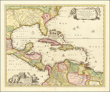 South, Southeast and Caribbean Map By Nicolaes Visscher I