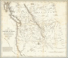 Rocky Mountains, Pacific Northwest, Oregon and Washington Map By Washington Hood