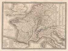 Europe and France Map By Alexandre Emile Lapie