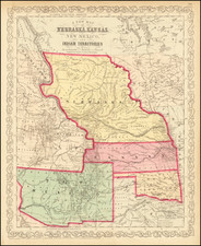 Midwest, Minnesota, Plains, Kansas, Nebraska, North Dakota, South Dakota, Oklahoma & Indian Territory, Southwest, New Mexico, Rocky Mountains, Montana and Wyoming Map By Charles Desilver
