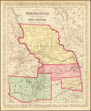 Midwest, Minnesota, Plains, Kansas, Nebraska, North Dakota, South Dakota, Oklahoma & Indian Territory, Southwest, New Mexico, Rocky Mountains, Montana and Wyoming Map By Charles Desilver